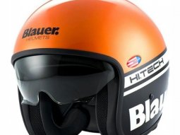 Casque jet Blauer Pilot Orange / Noir Mat