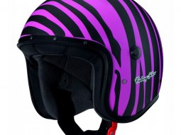 Casque jet Caberg Freeride Marty noir mat / rose