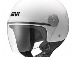 Casque jet Givi 10.7 Mini-J Solid Color blanc