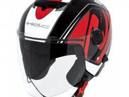 Casque jet Held TOP SPOT noir / rouge