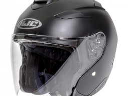 Casque jet HJC IS-33 II Semi Noir Mat