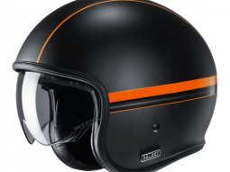 Casque jet HJC V30 Equinox MC7SF noir / orange mat