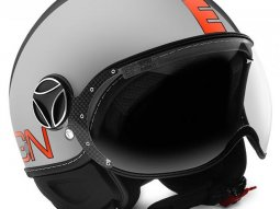 Casque jet Momo Design FGTR EVO gris métal / orange