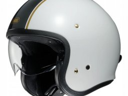 Casque jet Shoei J.O Carburettor noir / blanc