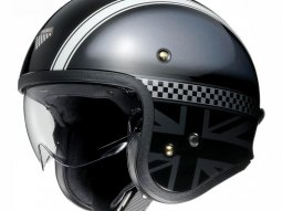 Casque jet Shoei J.O Hawker gris / noir
