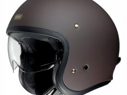 Casque jet Shoei J.O marron mat