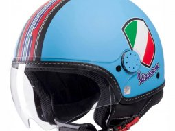 Casque jet Vespa V-Stripes bleu / rouge / multicolore