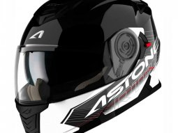 Casque Modulable Astone Rt 1200 Graphic Touring noir / blanc