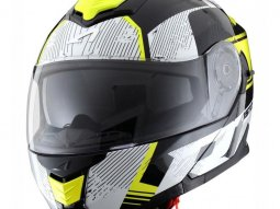 Casque modulable Astone RT 1200 graphic VIP noir / blanc / jaune fluo