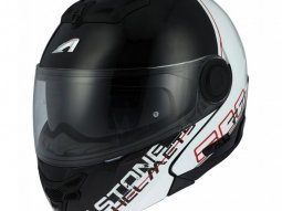 Casque modulable Astone RT800 graphic exclusive LINETEK rouge / blanc -