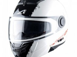 Casque Modulable Astone Rt800 Graphic Exclusive Stripes blanc / noir