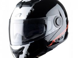 Casque Modulable Astone Rt800 Graphic Exclusive Stripes noir / blanc