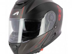 Casque modulable Astone RT900 Stripe noir mat / rouge
