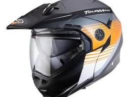 Casque modulable Caberg Tourmax Titan gris anthracite / orange / blanc