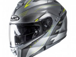 Casque modulable HJC IS-Max II Cormi gris / jaune fluo