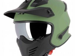 Casque transformable Astone Elektron vert army mat