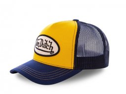 Casquette Von Dutch Colors Jaune / Bleu
