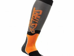 Chaussettes enfant Alpinestars Mx Plus-2  cool gris / orange fluo