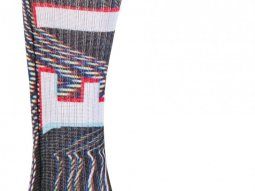 Chaussettes Fly Racing MX Pro Socks Thin Glitch noir / blanc