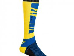 Chaussettes Fly Racing MX Socks Thick bleu / jaune