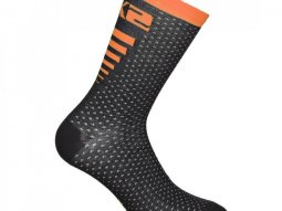 Chaussettes Sixs Arrow mérinos noir / orange