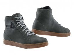 Chaussure moto cuir TCX Street Ace WP gris / naturel rubber