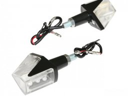 Clignotants LED Replay Wing transparent / noir (paire)