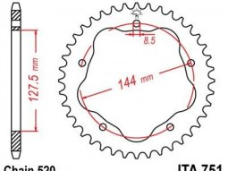 Couronne JT Sprockets Aluminium pas 520 38 dents
