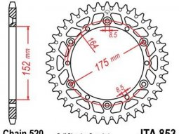 Couronne JT Sprockets Aluminium pas 520 51 dents