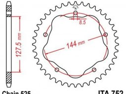Couronne JT Sprockets Aluminium pas 525 39 dents