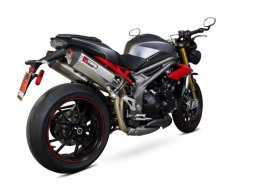 Double silencieux Scorpion Serket inox Triumph Speed Triple 1050 16-17