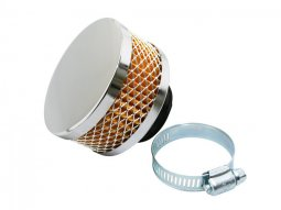 Filtre à air Replay cylindrique chrome grille chrome fixation droite...
