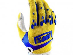 Gants cross 100% Airmatic jaune