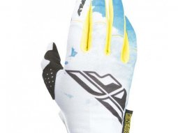 Gants cross femme / enfant Fly Racing Kinetic bleu / blanc