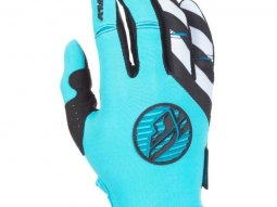 Gants cross femme Fly Racing Kinetic bleu et blanc