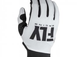 Gants cross femme Fly Racing Pro Lite blanc / noir