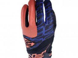 Gants cross Five MXF 2 orange fluo / bleu