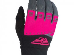 Gants cross Fly Racing F-16 rose / noir / gris