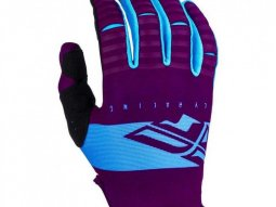 Gants cross Fly Racing Kinetic Shield pourpre / bleu