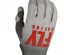 Gants cross Fly Racing Lite rouge / gris