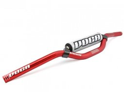 Guidon Voca Racing Scooter rouge mousse argent