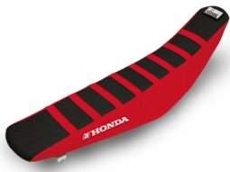 Housse de selle Blackbird Zebra Honda CRF 450R 09-12 noir / rouge