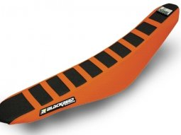Housse de selle Blackbird Zebra KTM 450 SX-F 11-15 orange / noir