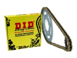 Kit chaîne DID 520 type DZ2 13 / 48 couronne ultra-light Honda CRF...
