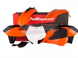 Kit plastique Polisport KTM 85 SX 13-14 (orange / noir / blanc origine 13-