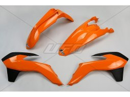 Kit plastique UFO KTM 125 EXC 14-16 orange / noir (couleur origine 2014)