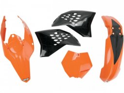 Kit plastique UFO KTM 125 SX 09-10 orange / noir (couleur origine)