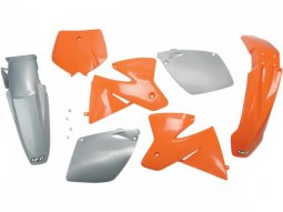 Kit plastique UFO KTM 250 SX 2000 orange / gris (couleur origine)