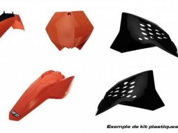 Kit plastique UFO KTM 85 SX 11-12 orange / blanc (couleur origine)