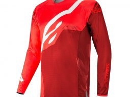 Maillot cross Alpinestars Techstar Factory rouge / burgundy